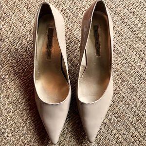Bandolino taupe kitten-heel pumps